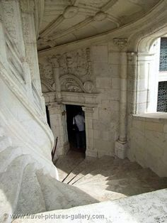 The famous stairway at Blois Castle