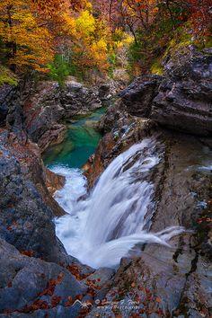 Autumn waters, Cañon de Añisclo, P. N. Ordesa, Huesca. Spain  by Enrique F. Ferrá