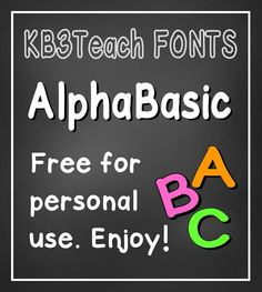 FONTS:  Free for personal use.  (Commercial license available.)  Works great for labels, book bins, folders and binder covers.