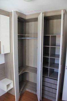 guarda roupa de canto casal apartamento pequeno - Cerca con Google
