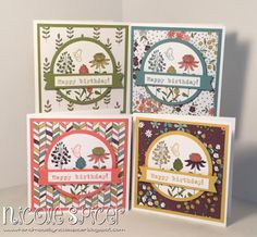 Crazy Crafters January Blog Hop - 2016 Sale-a-bration Products, Nicole Spicer, Stampin' Up!, wildflower fields DSP, Flowering Fields