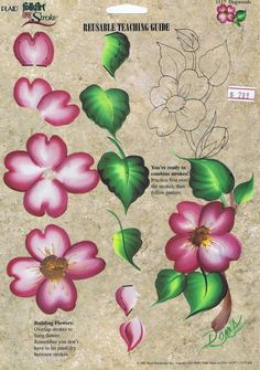 flower one stroke tole painting