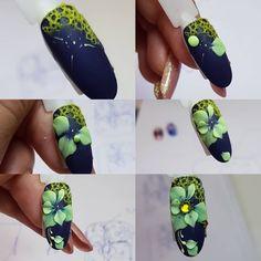 Rose Nail Art, Floral Nail Art, Rose Nails, 3d Nail Art, Art 3d, 3d Nail Designs, Natural Nail Designs, 3d Acrylic Nails, 3d Nails