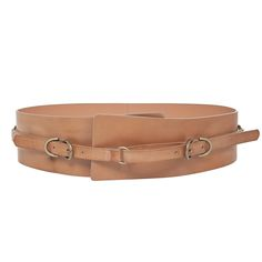 Wide Leather Belt | Designer Belts Accessories - Max Studio