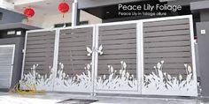Related image Main Gate Design, Sliding Gate, Entry Gates, Interior Sketch, House Elevation, Metal Working, Chandelier, Ceiling Lights, Fence