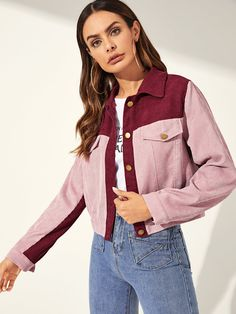 Cheap Skinny Jeans Mens Two Tone Button Up Corduroy Jacket. Cheap Skinny Jeans Mens Two Tone Button Up Corduroy Jacket Fashion News, Fashion Outfits, Womens Fashion, Fashion Online, Fashion Trends, Corduroy Jacket, Mode Hijab, Diy Clothes, Parka