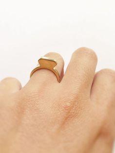 "Ring ""diamond"" made from brass, by Heydays on Dawanda*"