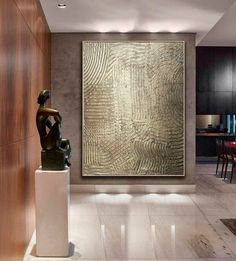 Large Painting Oversize Vintage Texture Bronze Gold Metallic Abstract Wall Art Extra Large Modern Ca Loft Stil, Style Loft, Contemporary Wall Art, Modern Wall, Contemporary Artists, Large Painting, Abstract Wall Art, Pink Abstract, Painting Abstract