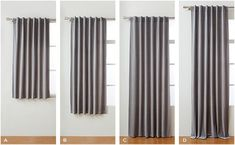 standard curtain lengths: apron, sill, floor length and puddle curtains. Short Window Curtains, Curtains And Draperies, Curtains Living, Hanging Curtains, Panel Curtains, Short Curtains Bedroom, How To Hang Curtains, Curtains For Windows, Gypsy Curtains
