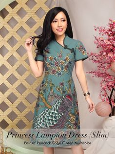 Home - Batik Kultur Model Dress Batik, Batik Dress, Lace Dress, Blouse Batik, Batik Blazer, Batik Fashion, Ethnic Fashion, Tutorial Tutu, Sewing Clothes Women