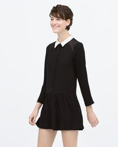 Image 1 of PETER PAN COLLAR JUMPSUIT from Zara