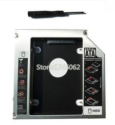 Best for HP Pavilion dv4 dv5 dv6 dv7 dv8 Series Laptop 2nd HDD SSD Caddy Second Hard Disk Drive CD DVD Optical Bay Replacement