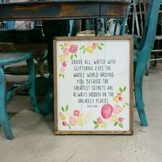 This sign measures approx. 19×22. Every piece we make is designed, built and painted by us. Each sign is made with real wood and will have it's own unique appearance. Wood has knots and cracks…