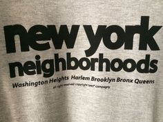 tees® New York neighborhoods