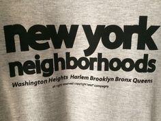 tees® New York neighborhoods