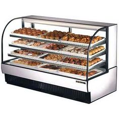"True+(TCGD-77)+-+78""+Curved+Glass+Dry+Bakery+Display+Case+