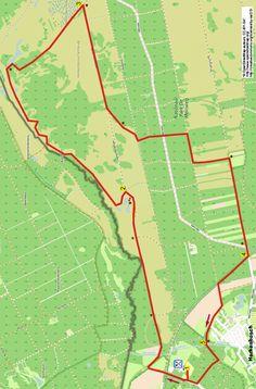 kaart van wandeling 323 Herkenbosch Limburg