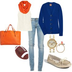 Gameday!  GO GATORS!  I am in love with www.polyvore.com