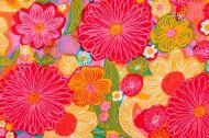 Vintage Fabric Background SB26 1962-1972