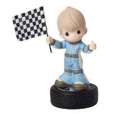 """You Make My Heart Race"", Bisque Porcelain Figurine, Boy - Precious Moments"