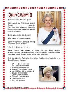 Elizabeth Ii Coloriages And La Reine Elizabeth On Pinterest