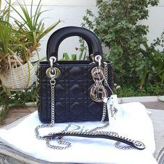 977ced6da3f2c7  ChristianDior Black Lambskin Mini Lady Dior SHW Condition  Pristine  (dustbag chain strap) Price  AED 8500 We deliver worldwide 🌎 Shop more   Dior bags at ...