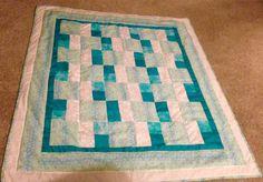 Lap blanket Teal greens