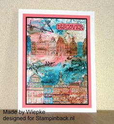 Stampinback KIT 148 The idiot Flowers I Card, Vintage World Maps, Kit, Art Journals, Flowers, Buildings, Stamps, Houses, Explore