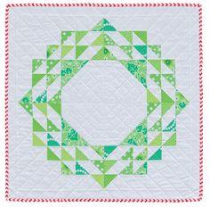 Hyacinth Quilt Designs: Christmas Wreath mini quilt - my kind of Christmas quilt! Small Quilts, Mini Quilts, Bright Quilts, Modern Quilting Designs, Quilt Designs, Modern Christmas, Christmas Print, Xmas, Christmas Décor