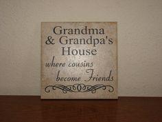 Grandma and Grandpa's House where cousins by CutesyandCreative
