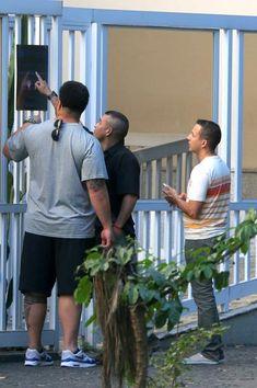Integrantes da banda 'Backstreet Boys' passeiam no Rio de Janeiro
