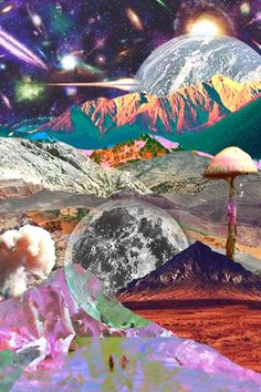 Discovered by c. Find images and videos about moon, psychedelic and wallpaper on We Heart It - the app to get lost in what you love. Psychedelic Art, Psychedelic Experience, Art Pop, Images Pop Art, Psy Art, Photocollage, Jolie Photo, Art Graphique, Retro Futurism