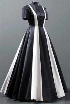 Robe du Soir - Bicolore Noir et Blanc - Balenciaga - 1939