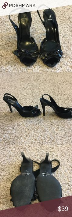 Adorable bow heels 🎀 Black adorable bow heels ! Worn once or twice and in excellent condition!!!! Bakers Shoes Heels