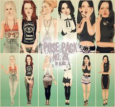 Pose Pack no. 20 by Blakc