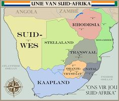 Is jy 'n Boer of is jy 'n Suid-Afrikaner? Union Of South Africa, South African Flag, War Novels, Alternate History, My Childhood Memories, Historical Maps, Family Research, African History, Educational Activities