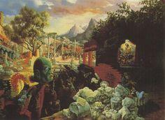 Tableaux sur toile, reproduction de Blume, The Eternal City, 86x121cm
