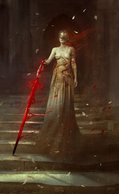 The Blood Blade, Bastien Lecouffe Deharme on ArtStation at https://www.artstation.com/artwork/Yz6DY