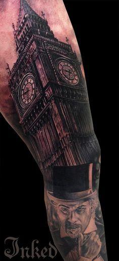 Awesome sleeve by Drew Apicture #InkedMagazine #sleeve #tattoo #tattoos #Inked #Ink #art