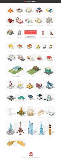 Isometric city map builder with included SVG and AI files. Isometric Map, Isometric Drawing, Isometric Design, Tree Photoshop, Gfx Design, Icon Design, Graphic Design, Flat Illustration, Backgrounds