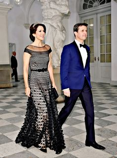 2016.03.15 Crown Prince Frederik & Crown Princess Mary arriving at the Art & Culture Banquet hosted by Queen Margrethe at Christiansborg Palace.