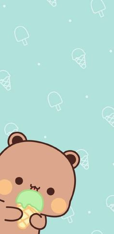 微博 Cute Pastel Wallpaper, Bear Wallpaper, Kawaii Wallpaper, Cute Wallpaper Backgrounds, Animal Wallpaper, Wallpaper Iphone Cute, Cute Couple Cartoon, Cute Love Cartoons, Cartoon Pics