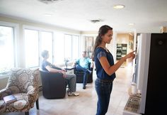 There are four lounge areas throughout the main residence at Clarity Way.