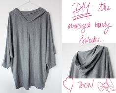 Remove your sweater's hood and stich a bow! The result on the #DIY #blog Virginie Peny