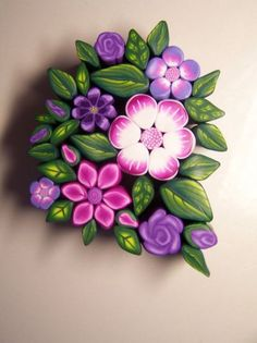 181 best Polymer Clay Cane: Flowers