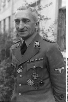 """Extermination commando Einsatzgruppe B commander Arthur Nebe, SS Gruppenführer, SD senior officer, and specialist in killing mental patients and other """"unfit"""" victims. He was implicated in the assassination attempt on Hitler's life in July 1944 and was arrested and executed in 1945."""