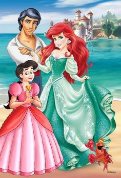 The Little Mermaid Return to the Sea - Ariel and her Family Little Mermaid Tattoos, Little Mermaid Movies, Ariel Mermaid, Ariel The Little Mermaid, Princesa Ariel Disney, Disney Princess Ariel, Disney Princess Pictures, Alternative Disney Princesses, All Disney Princesses