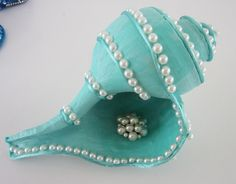 conch shell aqua and pearls | Flickr - Photo Sharing!