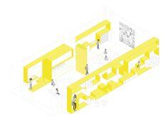 Imagen 12 de 15 de la galería de English for Fun en Madrid  / Lorena del Río + Iñaqui Carnicero. Axonometrica