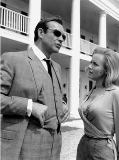 Sean Connery (James Bond) and Honor Blackman (Pussy Galore) in Goldfinger